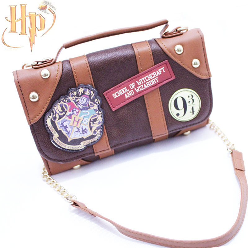 Harry Potter Bag Hogwarts PU School Badge Wallet Package Collectibles Shoulder bag Handbags Halloween Christmas Gifts