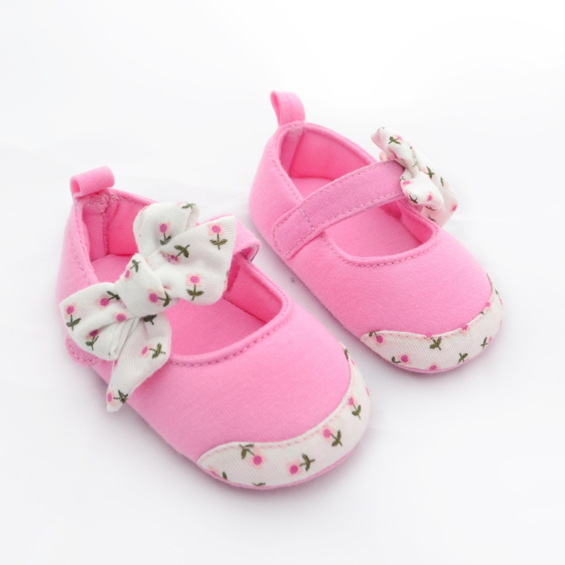 Baby Girl Summer Shoes Toddler Princess Baby Shoes Bowknot  Firstwalker  Soft Bottom Cotton Prewalkers 0-24M