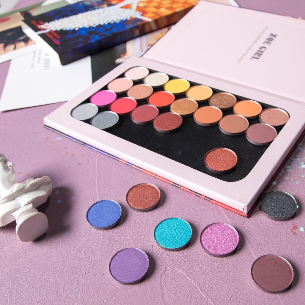 28PCS SET Eyeshadow Palette DIY Empty Magnet Palette Shimmer Matte Glitter Eyeshadow Pallete Pigment Makeup Palette Cosmetic in Eye Shadow from Beauty Health