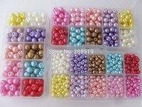 NB0168 Multisize 6mm/8mm/10mm Assorted pacote Caixa de Botões Decorativos botões de Pérola de Plástico solta para vestuário de costura