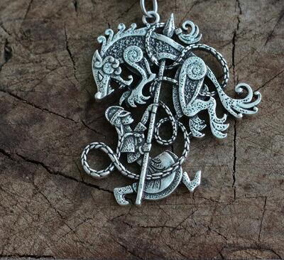 Viking Men Necklace Pendant...