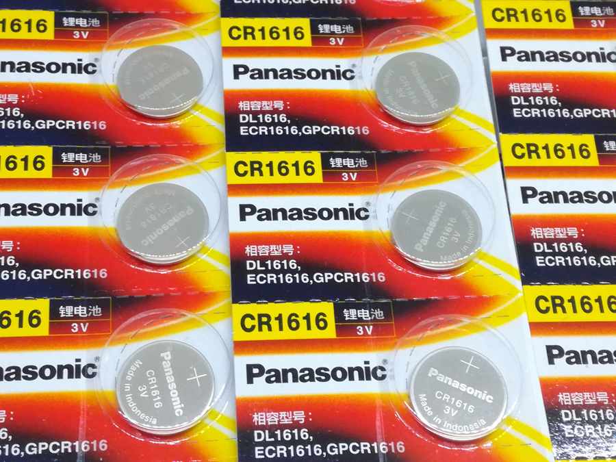 40pcs/lot New Genuine Panasonic CR1616 Button Cell Coin Batteries Car Remote Control Electric Alarm 3V Lithium Battery