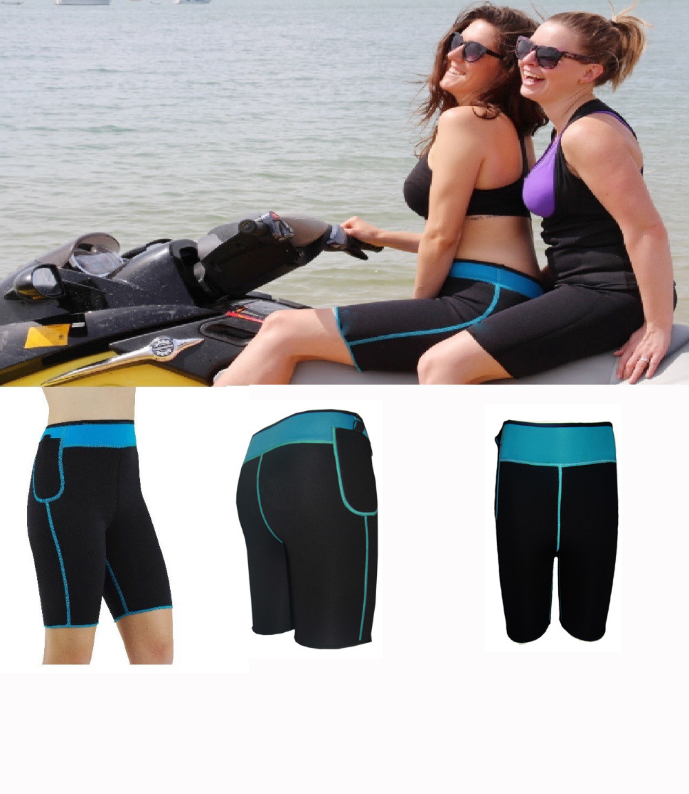 Women Ultra Sweat Running Shapewear Pants Double F...