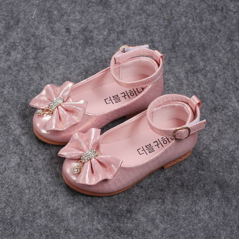 2019 Spring Autumn Fashion Baby Girl Shoes Princess Bow-knot With Rhinestone Pendant Kids Single Shoes For Girls Children2019 Spring Autumn Fashion Baby Girl Shoes Princess Bow-knot With Rhinestone Pendant Kids Single Shoes For Girls Children