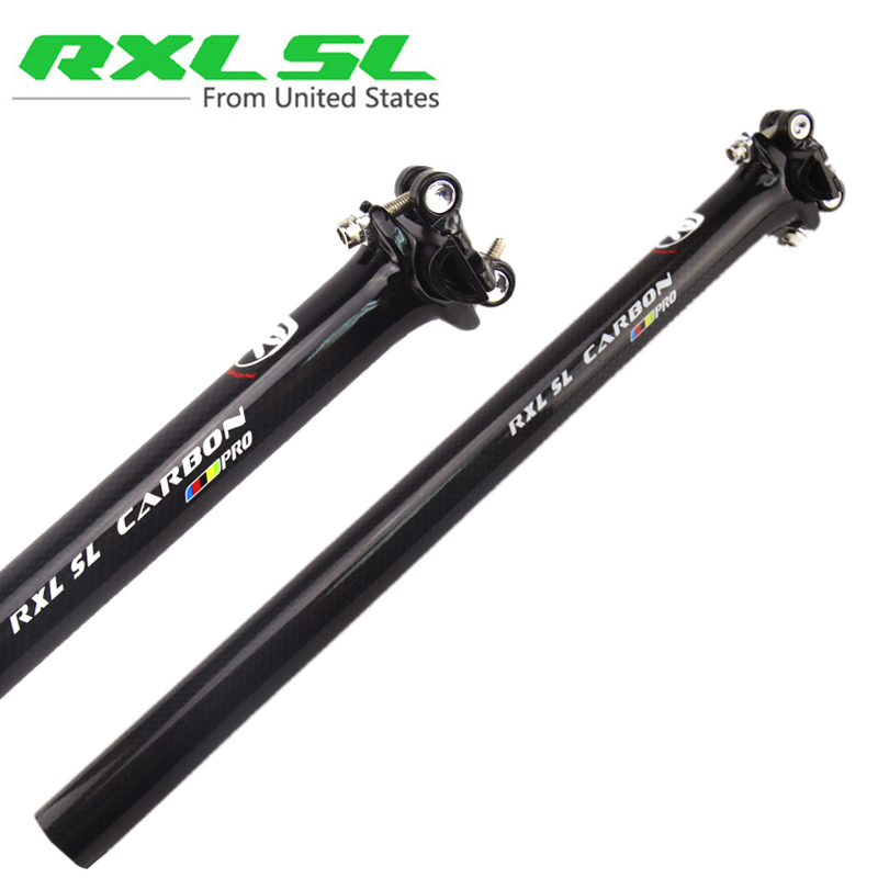 RXL SL Road/MTB Carbon Seat posts Mountain Bike Seatpost Carbon PRO Seatposts Black 3K Gloss 27.2/30.8/31.6 Bicycle Seat Post