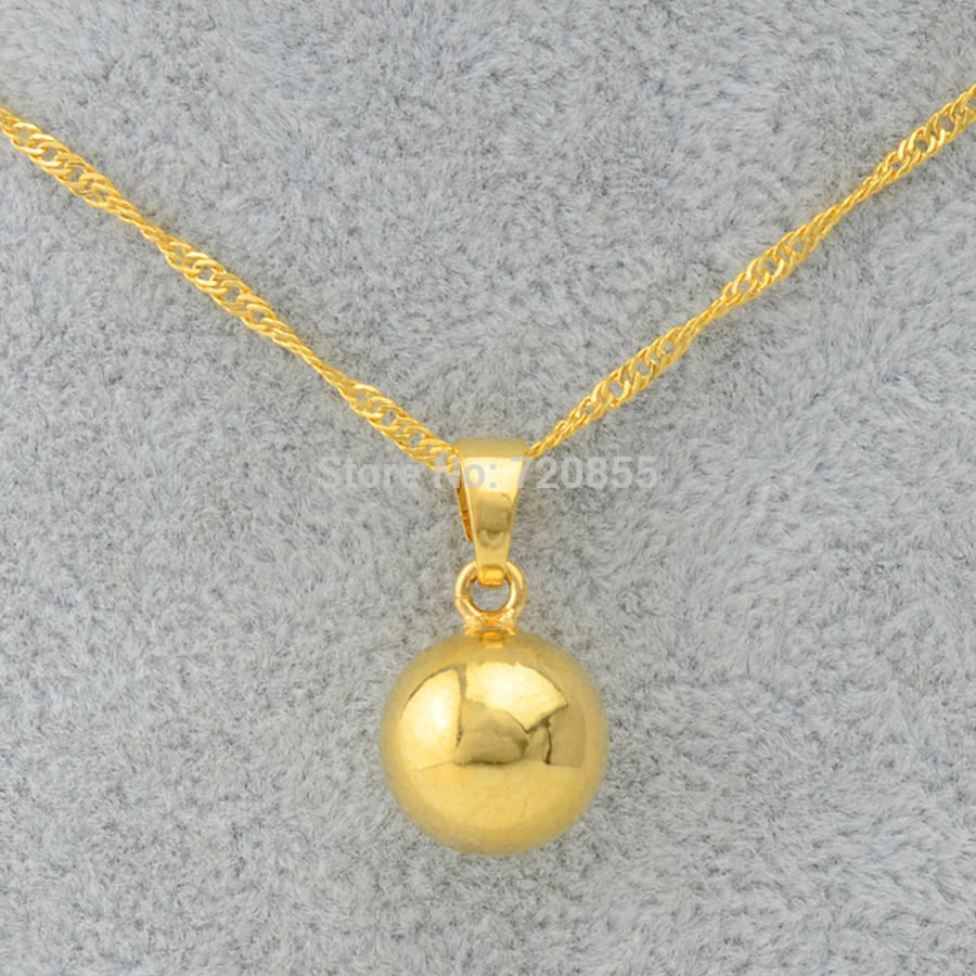 Anniyo gold color ball pendants necklaces for womenround bead anniyo gold color ball pendants necklaces for womenround bead necklaces trendy jewelry girls in pendant necklaces from jewelry accessories on aloadofball Image collections