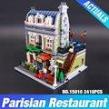 DHL Лепин 15010 Создатель Экспертов Городской Улицы Парижский Ресторан Модель Строительные Наборы Блоков Игрушки Совместимость