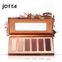 Mini naked heat six-color eye shadow earth color makeup disc matte European eye shadow disc