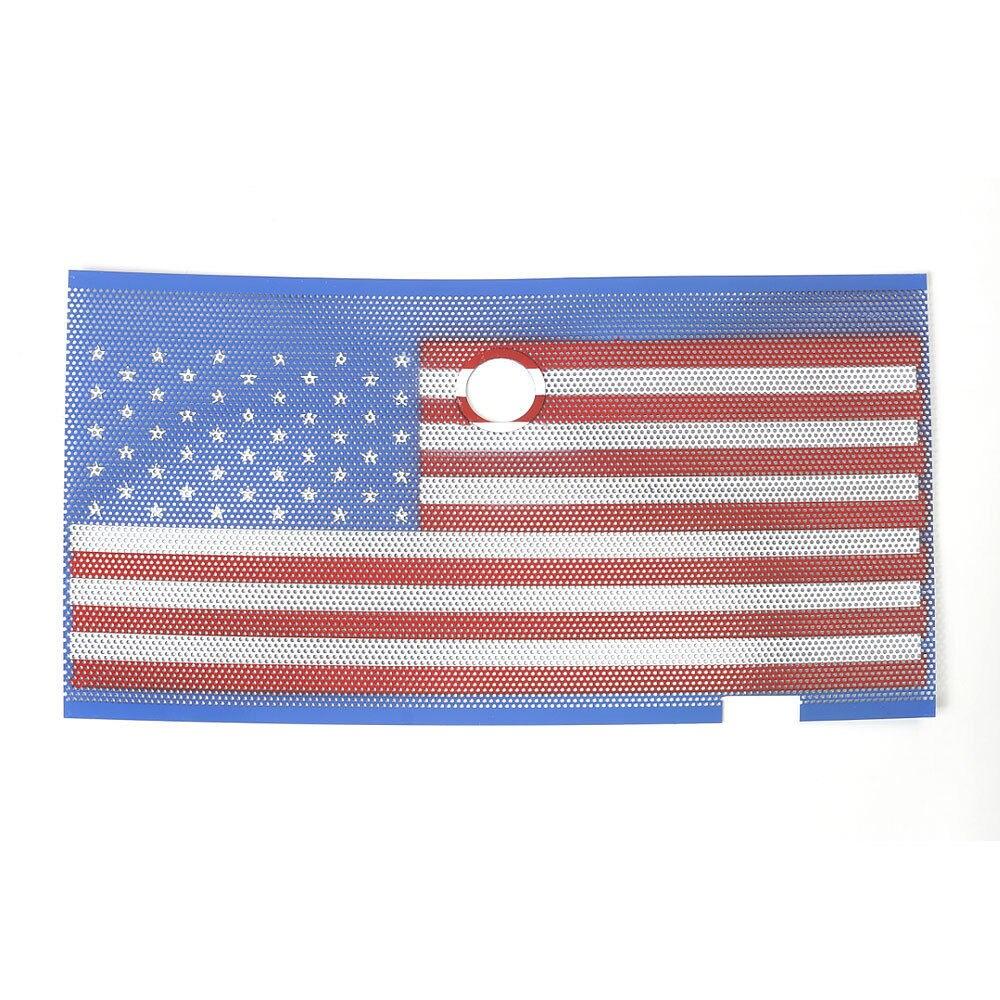 Métal USA drapeau emblème voiture Grille avant garde Insert serrure trou Anti insecte Bug maille Fit pour Wrangler 2007 +