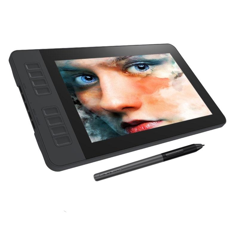 Affichage de stylo de moniteur de tablette numérique de dessin de graphiques de GAOMON PD1161 IPS HD avec 8 touches de raccourci et stylo sans batterie de 8192 niveaux