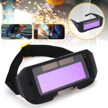 Escurecimento automático capacete de soldagem din11 durável automático mudança de luz anti-reflexo olhos shied óculos óculos máscara máscaras de automóvel rímel