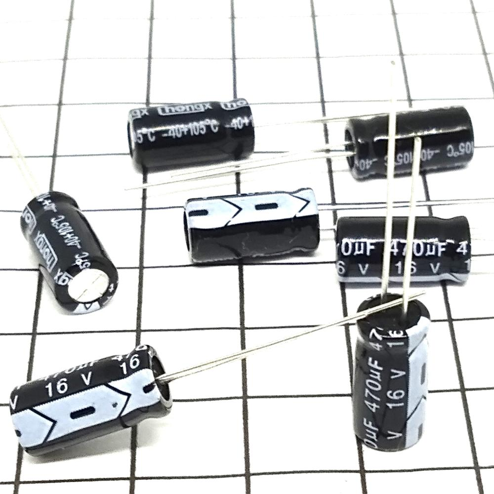 High Quality 20pcs X 100% Brand New 470 UF 16 V 6 X 12 Aluminium Electrolytic Capacitor