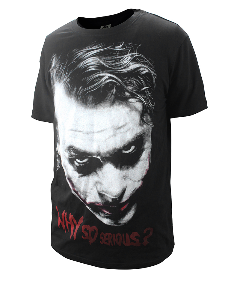 f958bc27 New Fashion Batman Joker Heath Ledger T shirt male Casual Why So Serious  Joker T Shirt Top Tees Plus Size-in T-Shirts from Men's Clothing on  Aliexpress.com ...