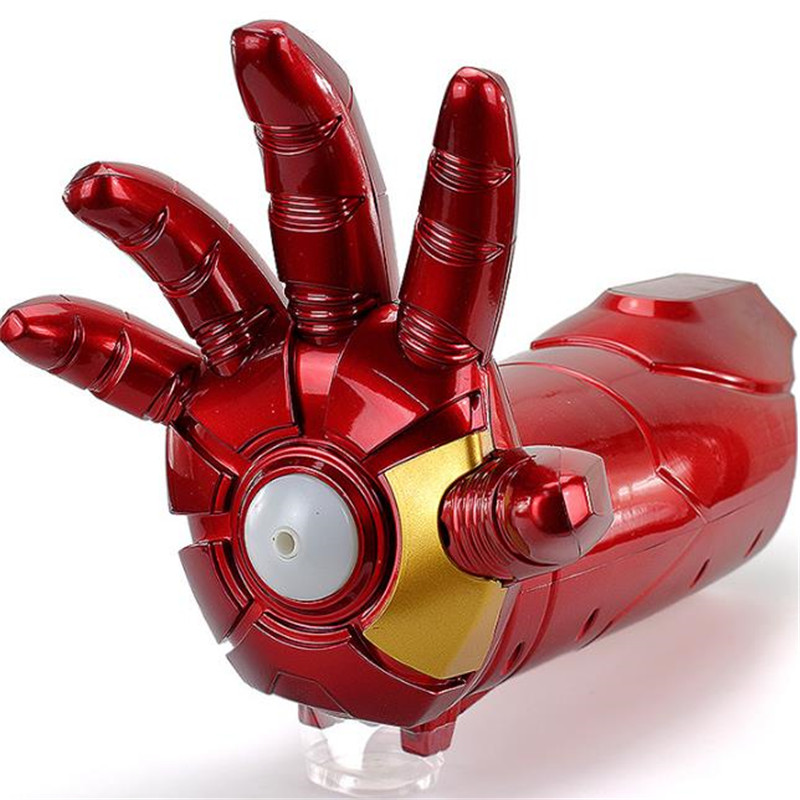 2018 The new Avengers Iron Man mechanical arm gun electric soft gun toy electric charge  ...