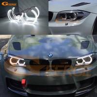 For BMW 1 Series E82 E88 E87 E81 2008 2009 2010 2011 Xenon headlight Excellent Ultra bright DTM M4 Style led Angel Eyes kit