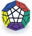 Shengshou Megaminx cubo mágico negro giro velocidad Puzzle rompecabezas