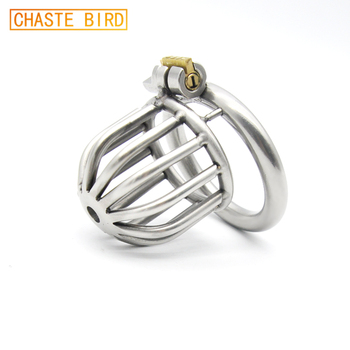 304 stainless steel Bondage Cock Cage Chastity Device with Stealth lock Sex Toy A259 earrings