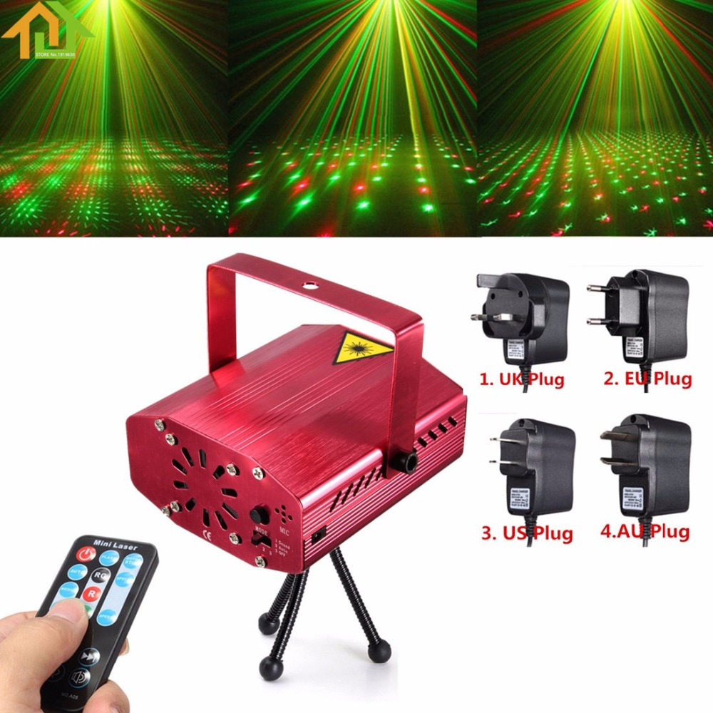 R&G Auto / Voice Xmas DJ Disco LED Laser Stage Light Projector with Remote Controller