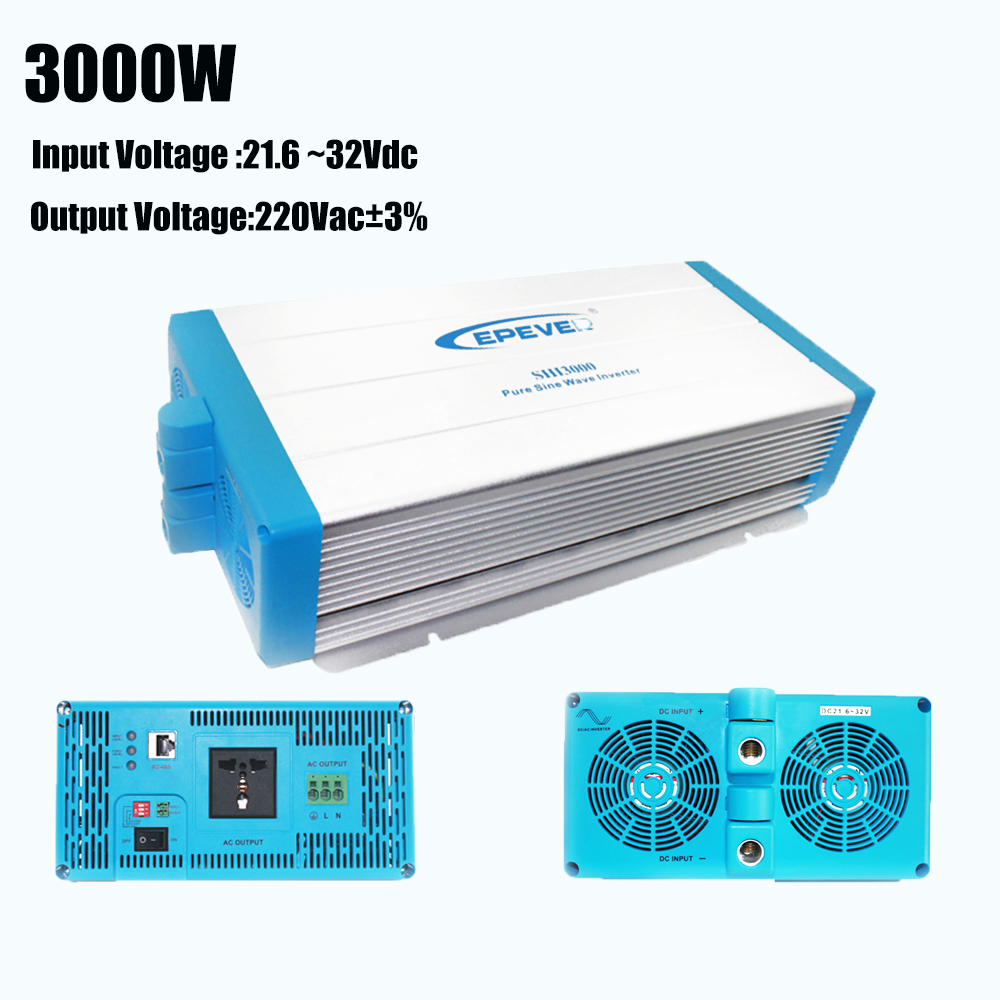 EPever Pure Sine Wave Inverter 3000w 24V Input 220V Output Voltage SHI-3000W-24V Off Grid 3000 Watt Pure Sine Wave Inverter