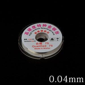 Image 1 - 0.04/0.05 MILLIMETRI LCD Dello Schermo di Separazione di Alta Durezza Speciale Oro Filo di Taglio Linea Per Iphone Samsung di Vetro Fili per saldatura