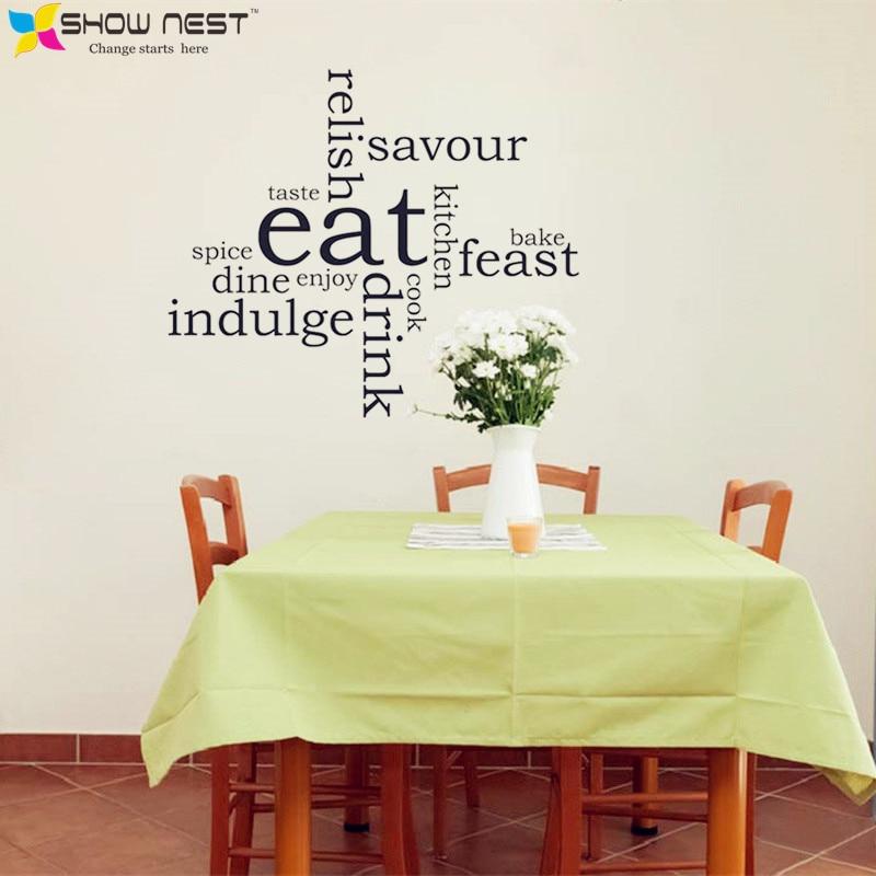 Kitchen Eat Word Cloud Montage Wall Sticker Art Decal Vinyl Transfer Home  Decor   Kitchen Wall