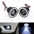 3.5 pulgadas Coche Universal 1200LM COB LED Angel Eyes Faros Antiniebla W/Lente Auto DRL Luz de Conducción Diurna Luces Blanco Faro