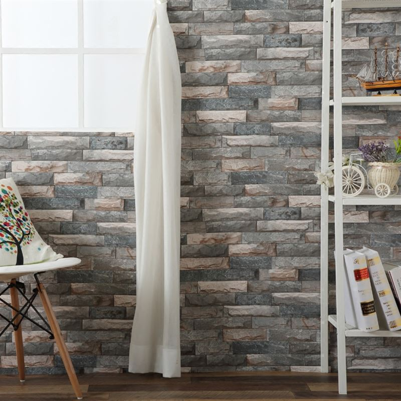 Self Adhesive Wallpaper 3D Stereo Brick Stone Vintage Wall Sticker Living Room Bedroom Home Decor Waterproof 3 D Papel De Parede