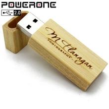 POWERONE Wooden USB Flash Drive 64GB 8GB 16GB 32GB Pen Drive Memory Stick