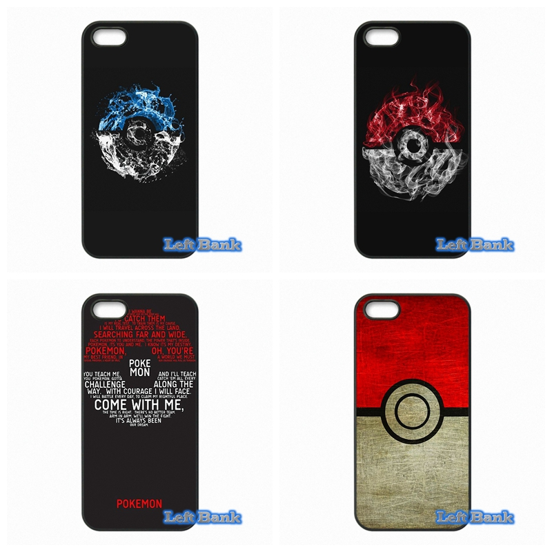 Pokemons PokeBall Hard Phone Case Cover For Apple iPod Touch 4 5 6 For iPhone 4 4S 5 5S 5C SE 6 6S Plus 4.7 5.5