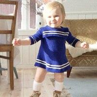 Baby Girls Knitted Dresses 2017 Autumn Sleeveless Dress Girls Robe Fille Children Clothing A Line Baby