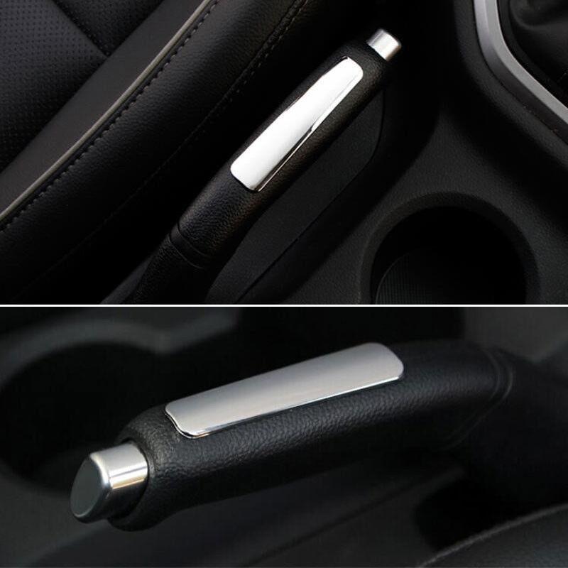 BBQ@FUKA Chrome ABS Interior Car Parking Hand Brake Handle Cover Handbrake Trim Sticker For Hyundai ix25 2015
