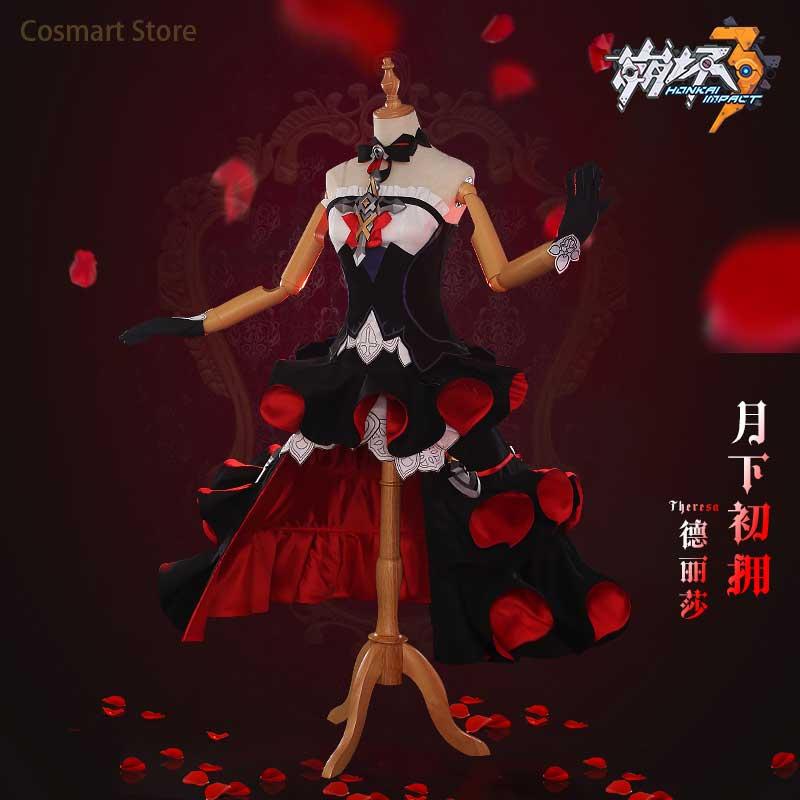 [STOCK]Anime Honkai Impact 3 Theresa Apocalypse Action Cosplay Costume  Halloween costume Dress Lolita Uniform For Women Free Sh