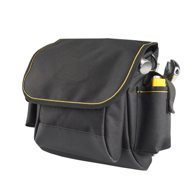 Thicken Oxford Multi Funtional Hardware Toolkit Shoulder Strap Tool Bag Backpack Black Color