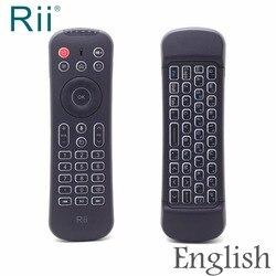Rii MX6 Mini Teclado 2.4G bezprzewodowa klawiatura 6 osi żyroskopu mysz powietrzna z pilot zdalnego sterowania na podczerwień/podświetlany dla mini PC/Android TV Box