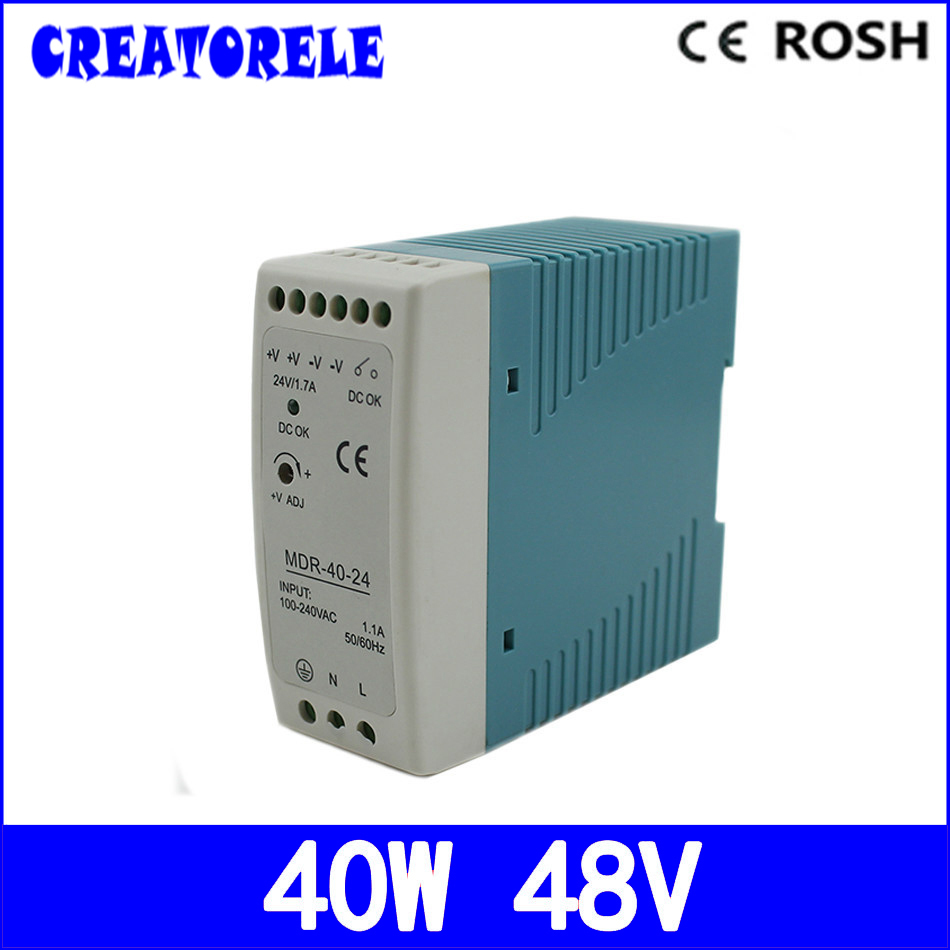 ac to dc din raiI singIe output 48v 0.83a 40w MDR-40-48 driver Ied driver source switching power suppIy voIt ac to dc woderfui universai 100w singie output s 100 mode manufturer s 100 27 ied driver source switching power suppiy voit