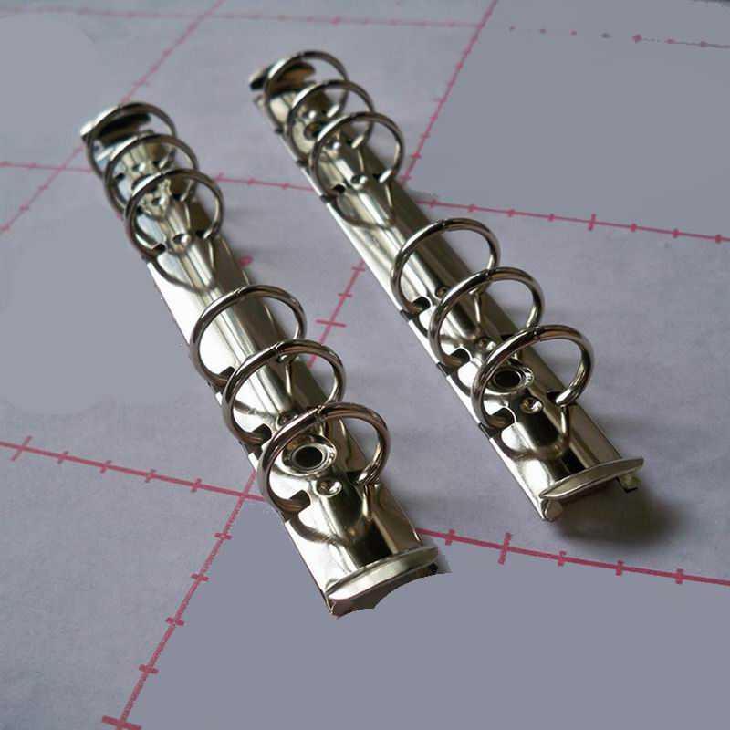 100 PCS Metal Spiral Binder Clip Stainless Steel 6 Hole