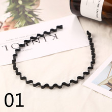 NEW 7types Hot Sale unisex Simple and elegant Wave Shape Black Hair Clips Women And Handsome Men Beauty modeling tool hair clamp