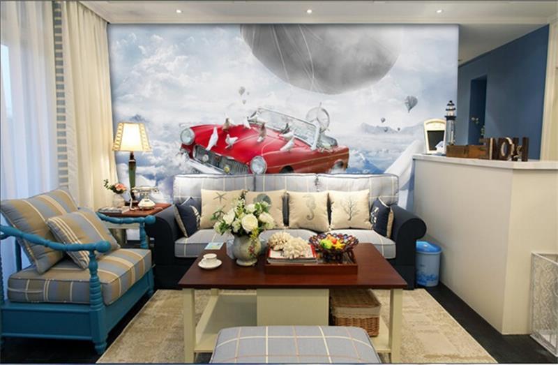 Living Room Murals 3d room hhoto wallpaper high end custom mural non woven sticker