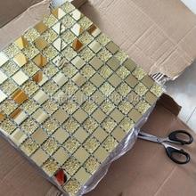 1box 11pieces 30x30cm Gold Glass Mosaics tiles Decorative Cr