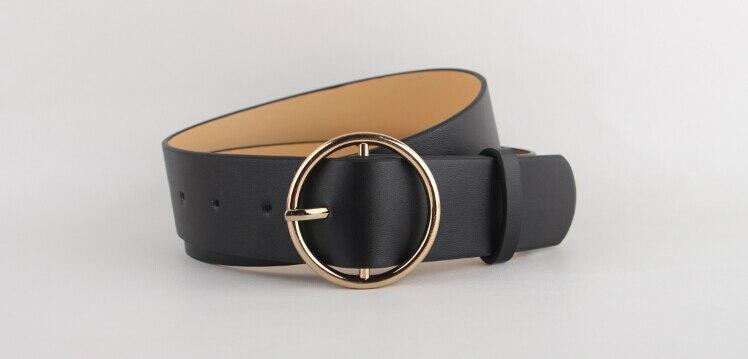 Nieuwste hete verkoop mode gouden gesp vrouwelijke lederen riem - Kledingaccessoires - Foto 6