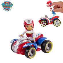 New Paw Patrol Dog Nickelodeon Patrulla Canina Rescue Racers Vehicle Ryder Anime Action Figure Doll Kids Toys Gift new arrival pj masks vehicle characters slide cars catboy owlette gekko cloak action figure toys boy birhday gift for kids flyer