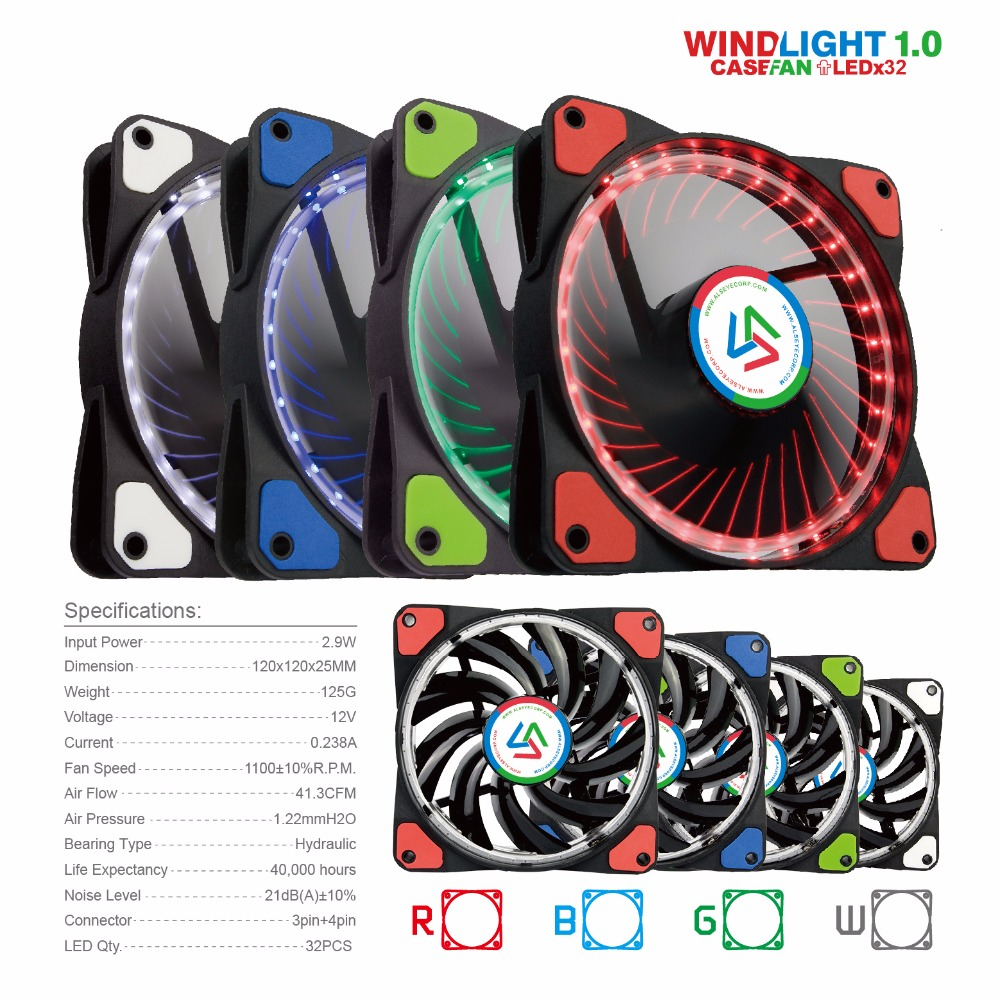 Cheaper computer - Alseye 120mm Led Cooler Fan For Computer 10 Pieces Wholesale For Agents More Quantity More Cheaper In Fans Cooling From Computer Office On