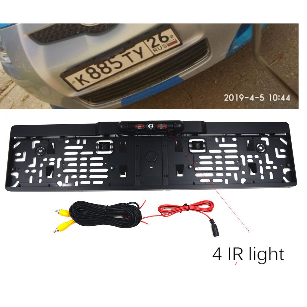 Беспроводная камера ночного видения IR заднего вида, ЕС, рамка для номерного знака, Автомобильная камера заднего вида, водонепроницаемая камера заднего вида для монитора, gps