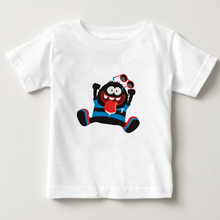 2-15Year child t-shirts baby boy cotton t-shirt cartoon/monster girls t shirt kids lovely tees summer cool style T  NN