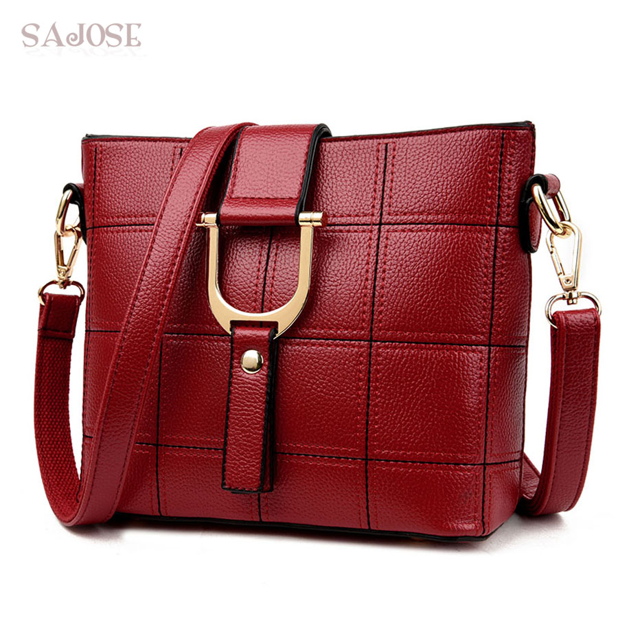 SAJOSE NEW Female Business OL Hand Bag Messenger Shoulder Tote Bags Woman's Fash