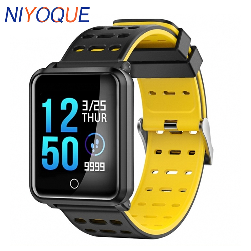 NIYOQUE Smart Watch Bluetooth IP68 Waterproof Heart Rate Blood Pressure Monitor Fitness racker Bracelet For Android IOS Xiaomi