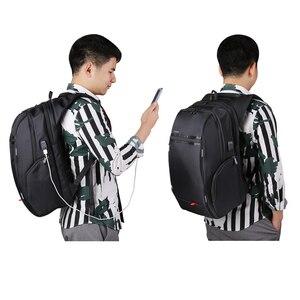 Image 2 - RU Notebook Rucksack Anti thef männer 15,6 zoll Mit USB Chargring Schnur blei Port Laptop Zurück pack für Macbook Air pro 13 15 17 fall rucksack