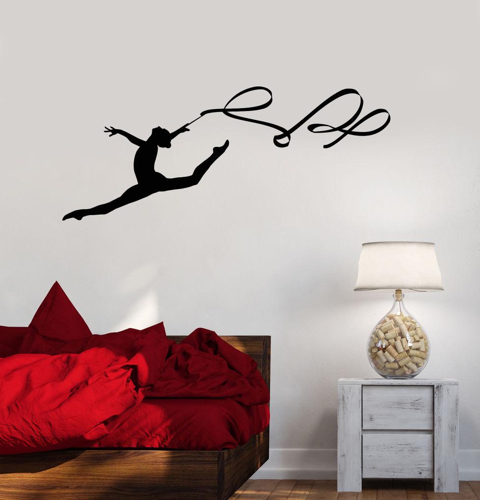 online get cheap gymnastics wall murals aliexpress com alibaba perfect quality ribbon wall stickers art mural decor gymnastics wall decal for gym sports girls room