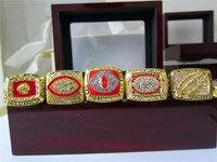 1972 1982 1983 1987 1991 Washington Redskins Super Bowl Championship Ring 5pcs Together High Quality Gift