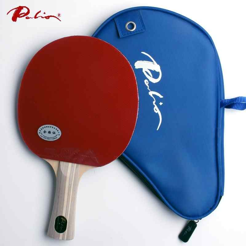 Palio official one star  finished racket pimples in for both rubber fast attack with loop ping pong game racquet game